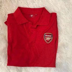 Arsenal club red polo shirt size xxl